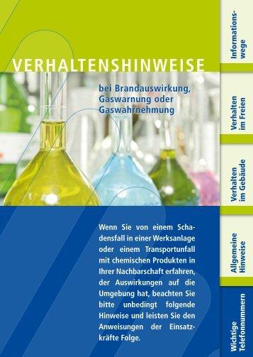 Verhaltenshinweise im Schadensfall (PDF   204 KB) - Wacker Chemie