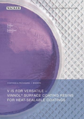 VINNOL® surface coating resins for heat-sealable ... - Wacker Chemie