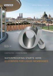 GENIOSIL® WP - waterproofing starts here: α ... - Wacker Chemie
