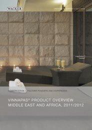 VINNAPAS® PRODUCT OVERVIEW MIDDLE ... - Wacker Chemie