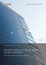Encapsulant material/TECTOSIL ® /Brochure EN ... - Wacker Chemie