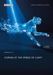 SEMICOSIL UV. Curing at the speed of light - Wacker Chemie
