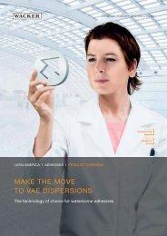 make the move to vae dispersions - Wacker Chemie