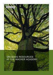 Growing Resources (PDF | 3.2 MB) - Wacker Chemie