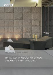 vinnapas® product overview greater china, 2012 ... - Wacker Chemie