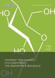 CAVAMAX® AND CAVASOL® - Wacker Chemie