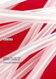 Annual Report 2007 (PDF | 1.8 MB) - Wacker Chemie