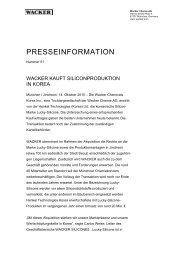 Presseinformation (PDF | 29 KB) - Wacker Chemie