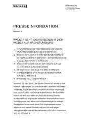 Presseinformation (PDF | 60 KB) - Wacker Chemie