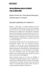 Ad-hoc Meldung (PDF | 20 KB) - Wacker Chemie