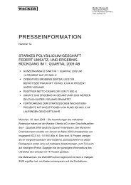 Presseinformation (PDF | 66 KB) - Wacker Chemie
