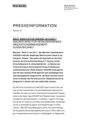Presseinformation (PDF | 43 KB) - Wacker Chemie