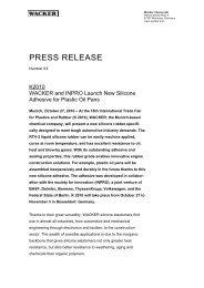 Press Information (PDF | 71 KB) - Wacker Chemie