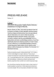 Press Information (PDF | 60 KB) - Wacker Chemie