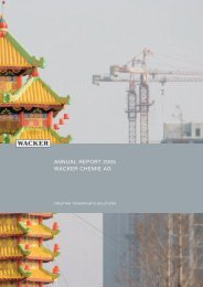 AnnuAl RepoRt 2005 WAckeR chemie AG