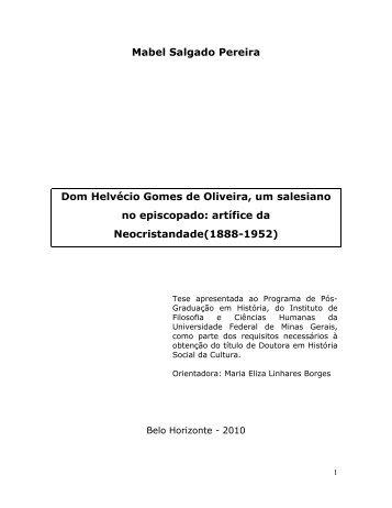 Mabel Salgado Pereira Dom Helvécio Gomes de Oliveira, um ...