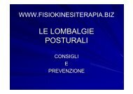 LE LOMBALGIE POSTURALI - Fisiokinesiterapia.biz