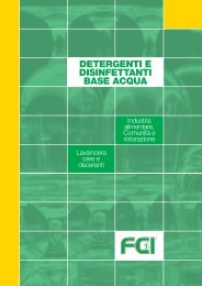 detergenti e disinfettanti base acqua - Forniture chimiche industriali