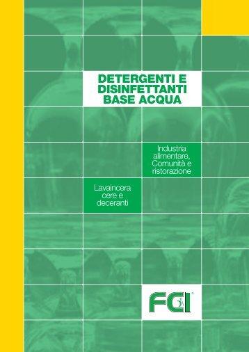 detergenti e disinfettanti base acqua - Forniture chimiche industriali