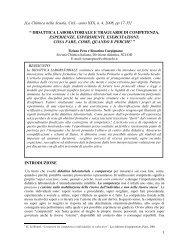 DIDATTICA LABORATORIALE E TRAGUARDI DI COMPETENZA ...