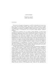 Pragmatica e cervello - Laboratorio di Linguistica - Scuola Normale ...