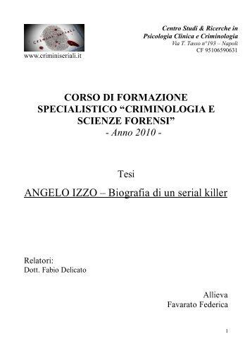 Angelo Izzo il mostro del Circeo - Crimini Seriali
