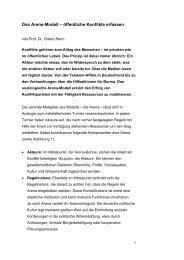 Das Arena-Modell – öffentliche Konflikte erfassen - JP|KOM GmbH