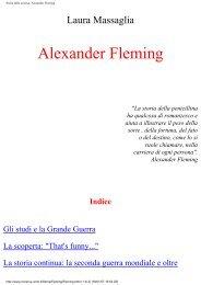 Storia della scienza. Alexander Fleming - Istituto Marco Belli