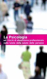 La Psicologia ed i rischi di abusivismo professionale nella tutela ...