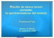 Rischio da stress lavoro correlato: la sperimentazione ... - PuntoSicuro