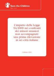 L'impatto della Legge 94/2009 nei confronti dei minori stranieri non ...