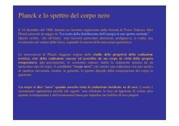 Planck e lo spettro del corpo nero