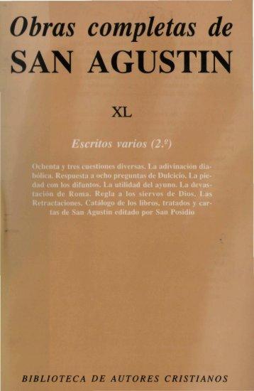 40. Escritos varios - Biblioteca Católica Digital