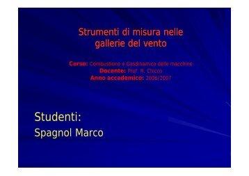 Studenti: - Spagnol Marco