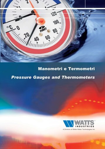Manometri e Termometri/Pressure Gauges and ... - idronicaline