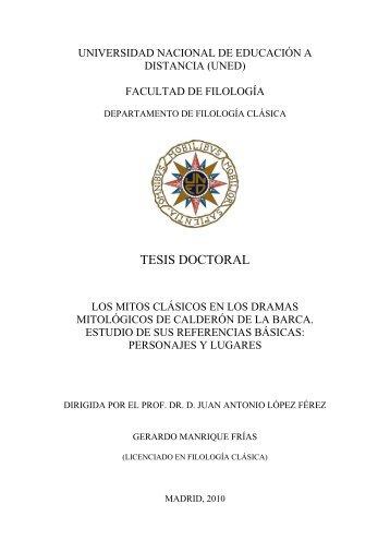 PERSONAJES MITOLÓGICOS - e-Spacio - UNED