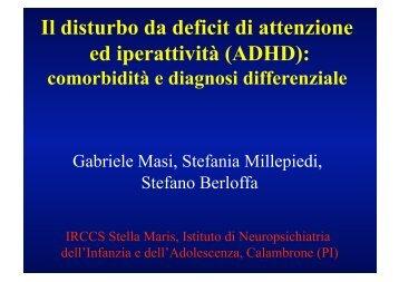 Il disturbo da deficit di attenzione ed iperattività (ADHD): comorbidità ...
