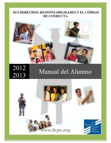 Manual del Alumno - Baltimore County Public Schools
