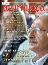 Azınlıkça 1 TEMMUZ - ΙΟΥΛΙΟΣ 2011 - Azınlıkça   Yunanistan Batı ...