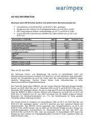 AD HOC-INFORMATION - Warimpex