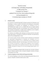 1 Bericht des Vorstands der Warimpex Finanz- und Beteiligungs ...