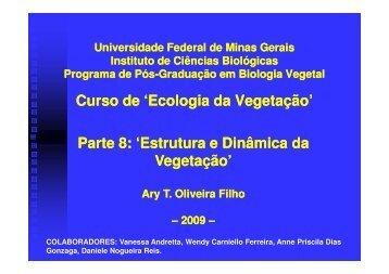 Aula 8: Estrutura e dinâmica da vegetação  [pdf] - ICB