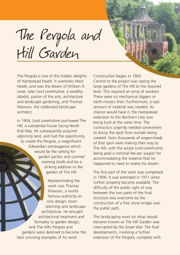 The Pergola and Hill Garden - the City of London Corporation