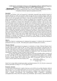 a influência da re-introdução de amazona aestiva (papagaio)