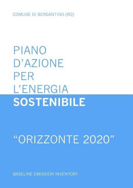 Comune di Bergantino Baseline Emission Inventory 1 - Covenant of ...