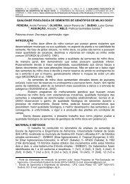 QUALIDADE FISIOLÓGICA DE SEMENTES DE GENÓTIPOS ... - UFG