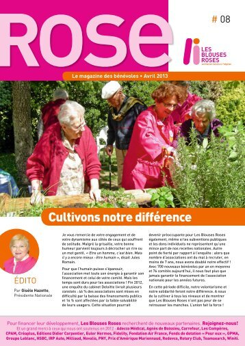 ROSE N°8 - Le Magazine des Blouses Roses - Avril 2013