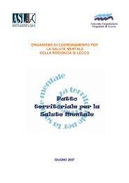Patto territoriale - ASL Lecco