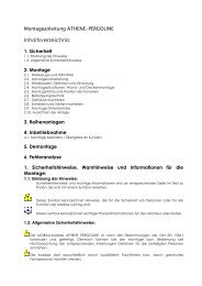 Montage Athene Pergoline - Mobau Markisen