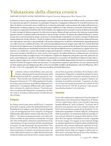Valutazione della diarrea cronica - Fondazione Internazionale ...